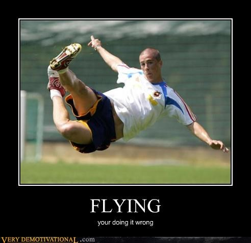 wrong soccer flying