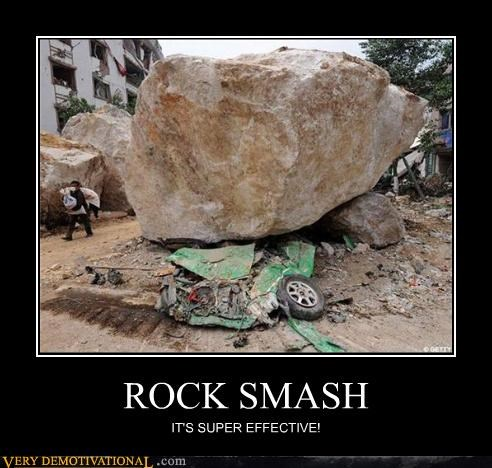 car,effective,Pokémon,rock,smash