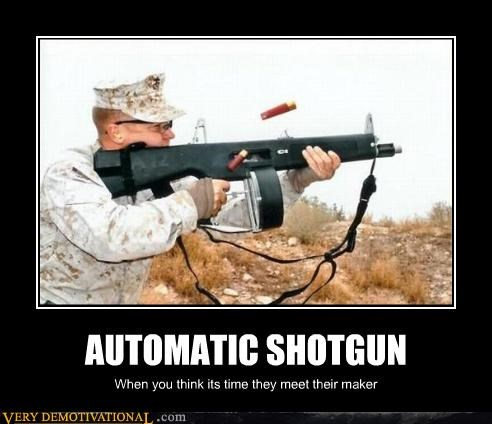 automatic military shotgun soldier - 4426505728