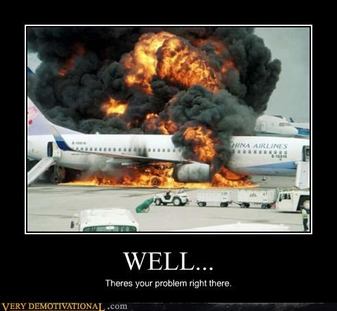 engine trouble,fire,plane