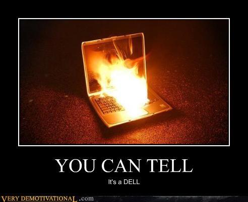 bad idea computer Dell fire - 4426809344