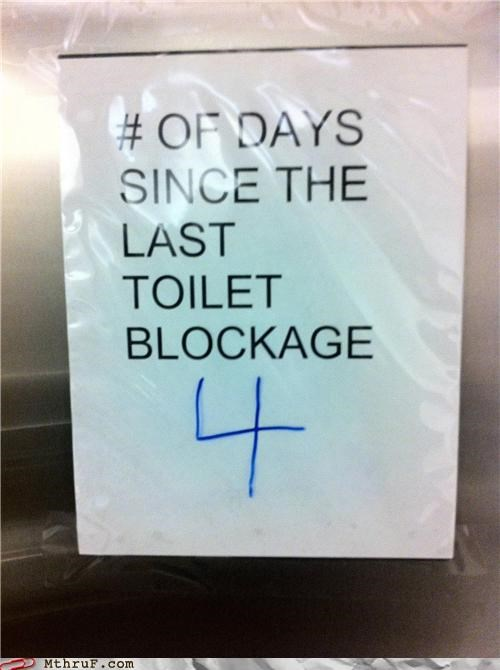 bathroom blockage gross signs toilet - 4427210240