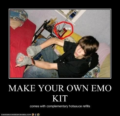MAKE YOUR OWN EMO KIT comes with complementary hotsauce refills