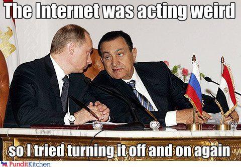 egypt,Hosni Mubarak,internet,protests,russia,Vladimir Putin,vladurday
