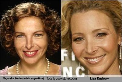 Alejandra Darin (actriz argentina) Totally Looks Like Lisa Kudrow