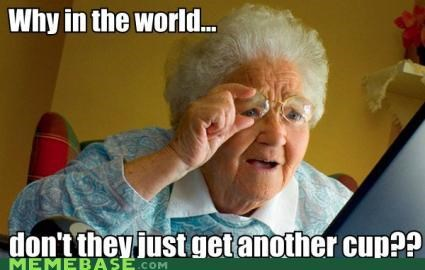 2 girls 1 cup grandma Memes - 4427415296