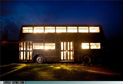 bus,double decker,renovation,repurposed