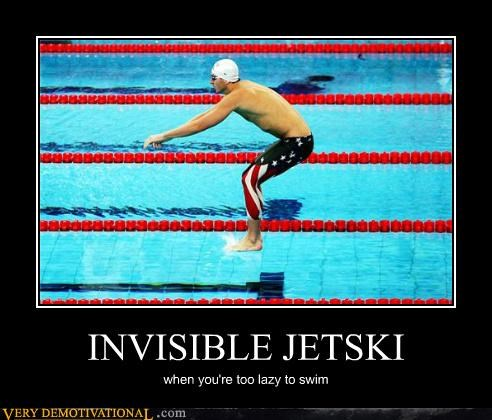 INVISIBLE JETSKI when you're too lazy to swim
