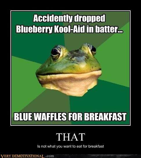 breakfast foul bachelor frog blue waffle