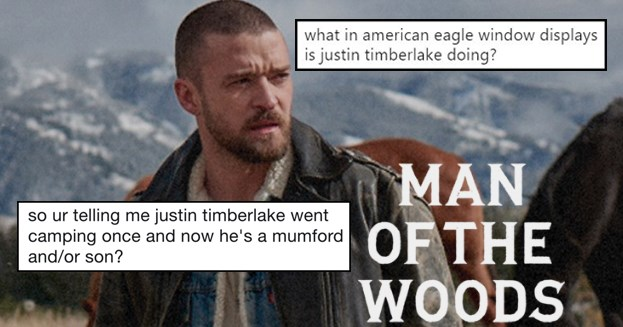 Funny twitter reactions to man of the woods, justin timberlake album, bon iver, mumford and sons.