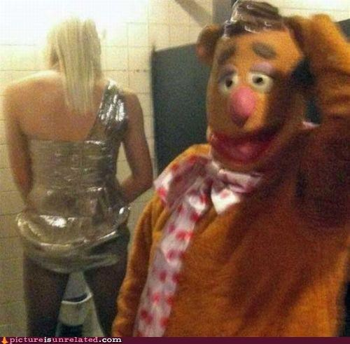 bathroom,cross dressing,fozzy