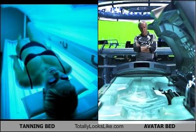 Avatar,future,james cameron,movies,space age,tan,tanning,tanning bed