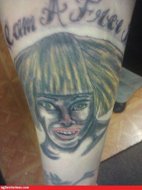 wtf tattoos lady gaga funny - 4428598784