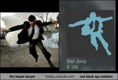 call of duty COD Black Ops emblem leapin lawyer logo suit video games - 4429298688