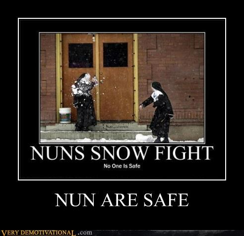 safe snowball pun nun - 4429417984