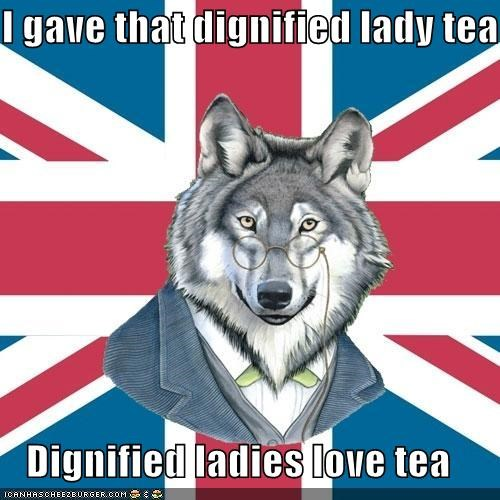dignified ladies,sir-courage-wolf-esq,tea