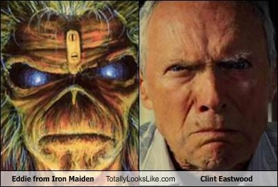 actor band Clint Eastwood drawing eddie iron maiden - 4430124544