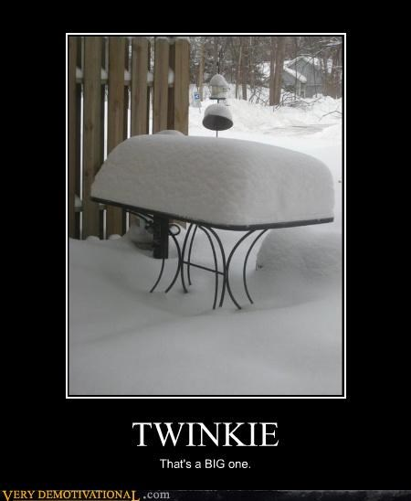 twinkie,snow,table,huge