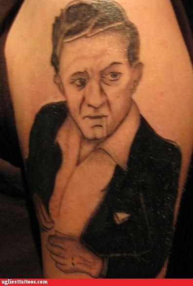 Ugliest Tattoos Johnny Cash Bad Tattoos Of Horrible Fail