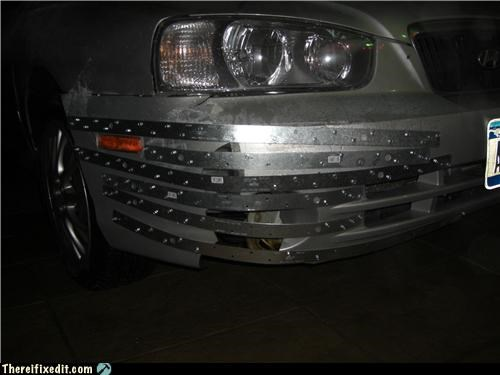 bumper repairs cars frankenstein wtf - 4431136512