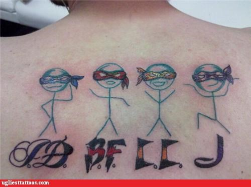 wtf stickmen tattoos funny - 4431268864