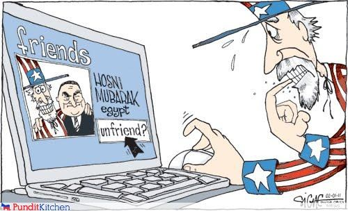 barack obama,egypt,facebook,friends,Hosni Mubarak,us