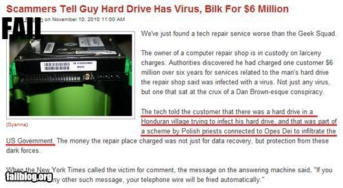 excuse failboat g rated Probably bad News scams technology virus - 4431559168