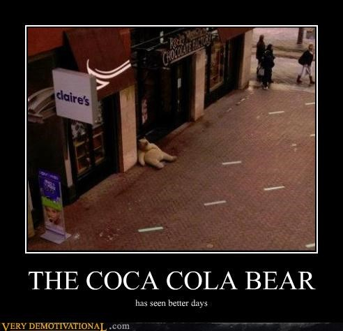 wtf polar bear coca cola - 4432638720