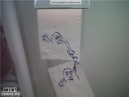 art bathroom hacked toilet paper - 4433193728