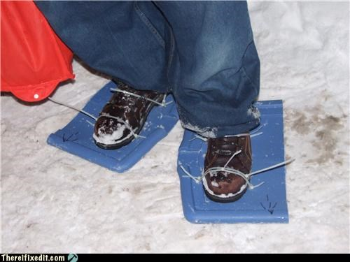 boots,dual use,snow,winter,zip ties
