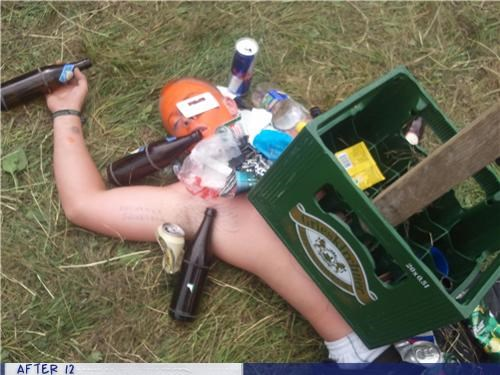 beer,orange,outdoors,passed out,red bull,stacking