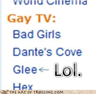 ghey,glee,television