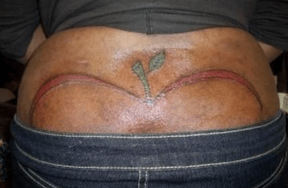 tattoos apple bottoms tramp stamps funny g rated Ugliest Tattoos - 4433743360