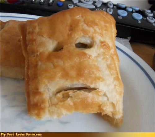 face,pastry,Sad,toaster strudel
