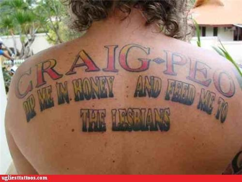 wtf text honey tattoos funny good plan - 4433890048