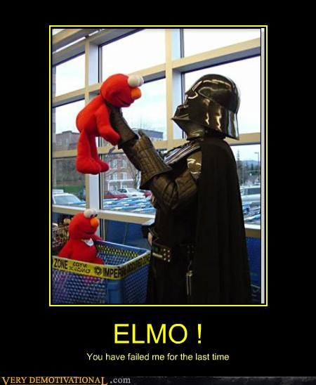 darth vader,elmo,failed