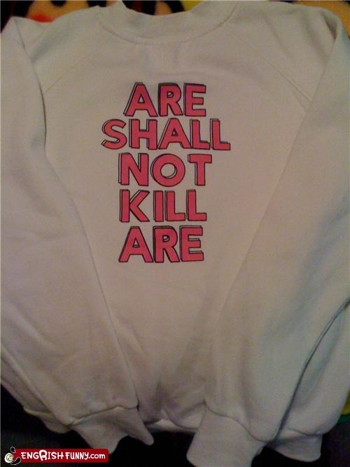 biblical commandments law shirt sweater - 4434859776