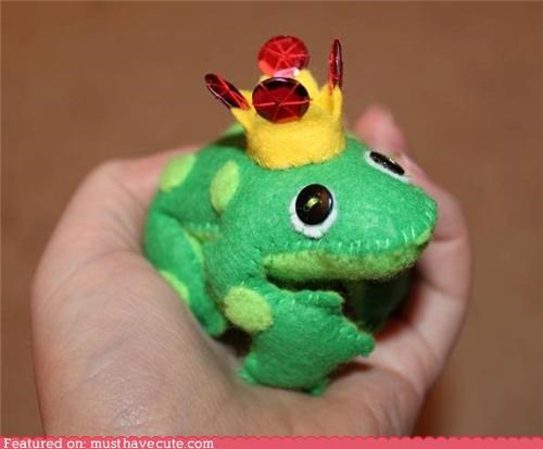 craft crown felt frog prince - 4435303168