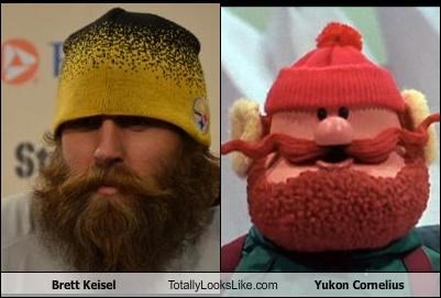 brett keisel claymation football movies pittsburgh steelers rudolph the red-nosed reindeer sports yukon cornelius