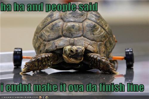 ha ha and people said  i cudnt make it ova da finish line