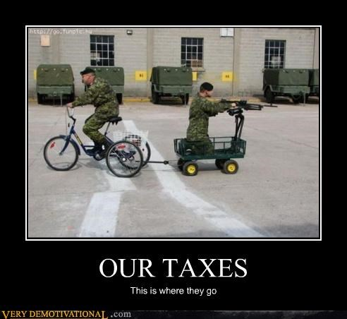 bike cart machinegun military taxes