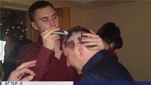 bad idea,buzz,drunk,haircut,Party