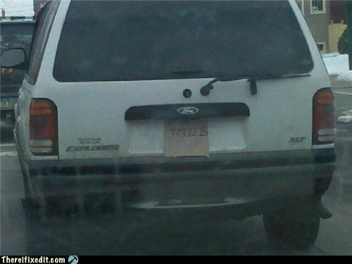 car cardboard homemade license plate sharpie - 4436931072