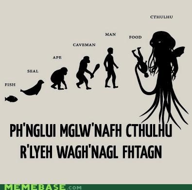 cthulhu evolution hp lovecraft Memes on a t-shirt near you - 4437216768