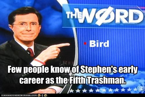 bird is the word song stephen colbert the colbert report the trashmen TV word - 4437415680