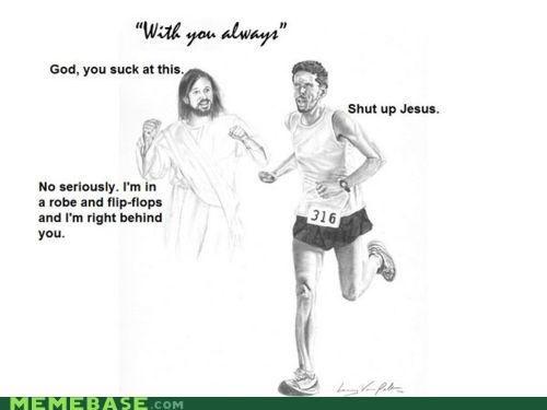 flippy floppy jesus lol LOL Jesus marathon runner - 4437482496