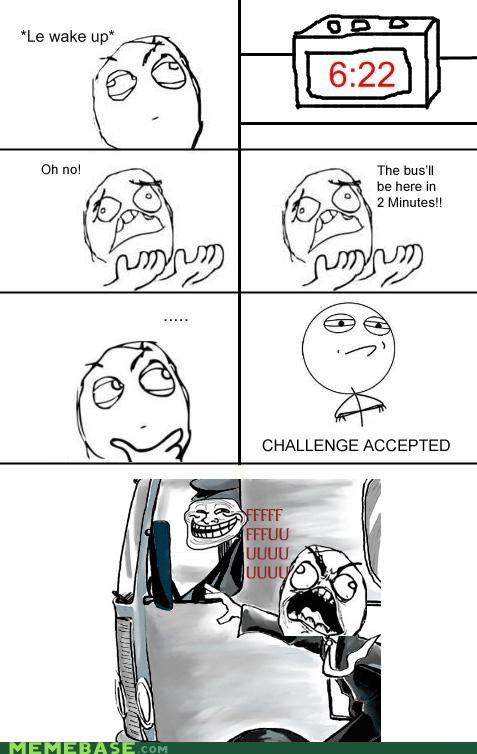 late,Rage Comics,troll bus
