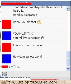 disconnected,facebook,magnets,mormon,this chat has ended