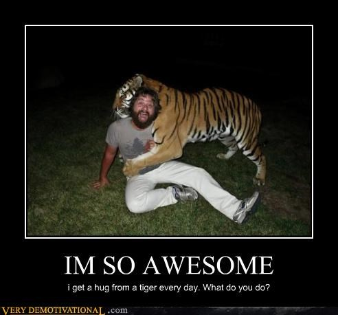 animal awesome hugs scary tiger - 4439329536