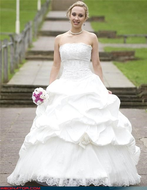 bride bride wore 9 dresses bride wore nine dresses brides spends fortune on wedding dresses British bride wore multiple dresses crazy bride Crazy Brides fashion is my passion funny wedding photos multiple wedding dresses for one wedding News and Trends surprise technical difficulties wtf - 4439422976